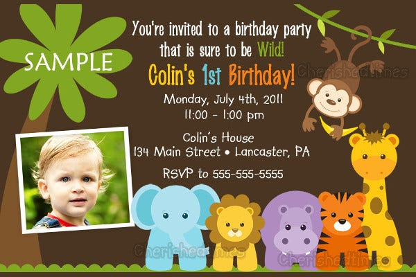Creative Printable Birthday Party Invitation
