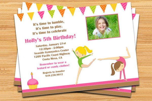 5th Printable Birthday Party Invitation