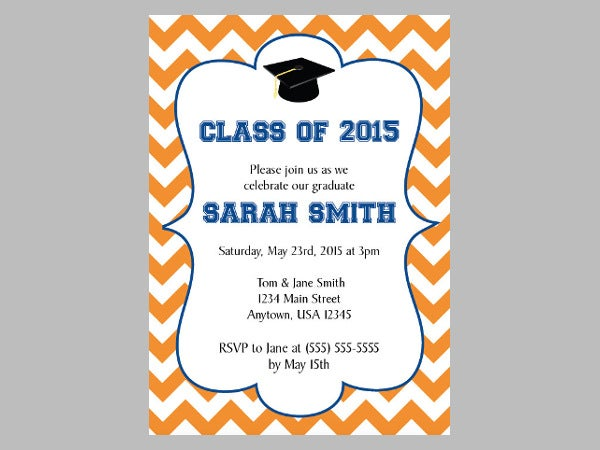 DIY Graduation Party Invitation Idea