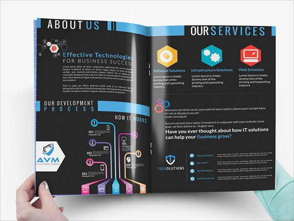 8 branding company brochures samples design templates free