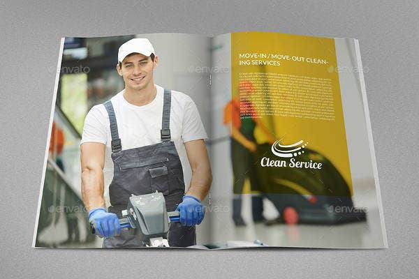 branding cleaning company brochure