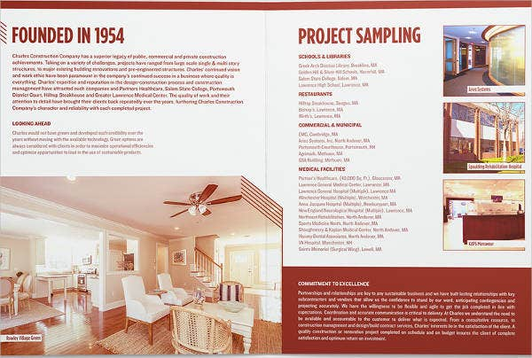 charles construction company brochure