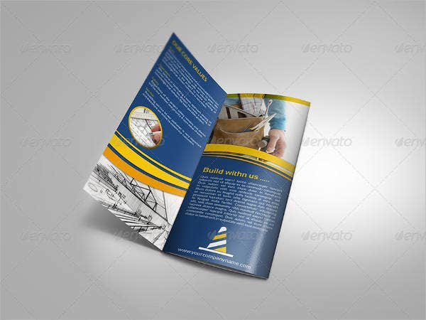 construction company tri fold brochure