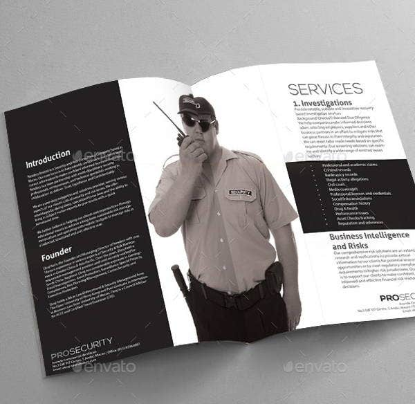 security company brochure template images template design free download