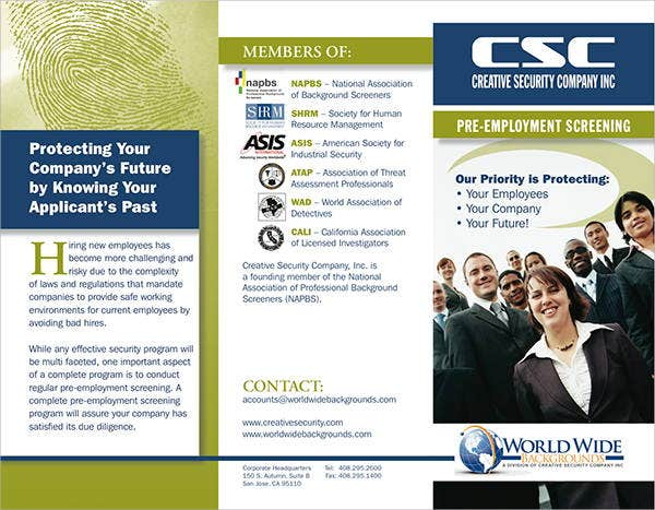 security company brochure template 9 security company brochures designs templates free