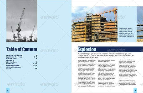 energy construction corporate brochure