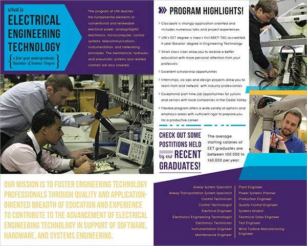 electrical engineering company brochure