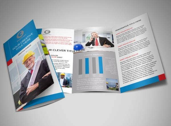 engineering company trifold brochure