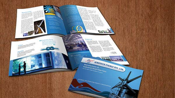 engineering company corporate brochure