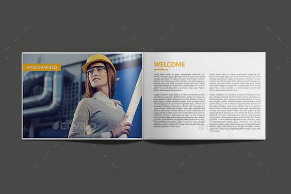 minimal engineering company brochure