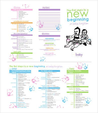 Twin Baby Shower Checklist Template