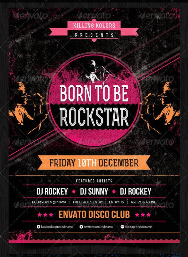 rockstar-retro-party-flyer