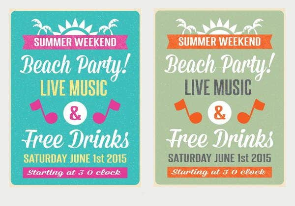 retro-beach-party-flyer