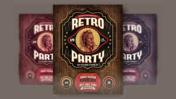 retropartyflyers