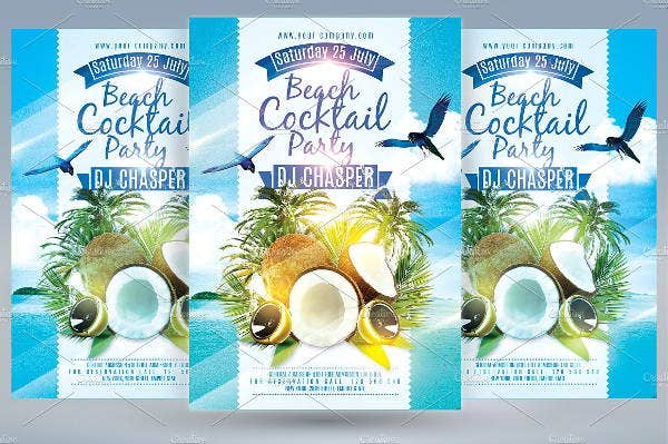 beach-cocktail-party-flyer
