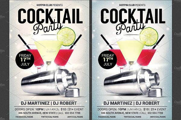 drink cocktail party flyer