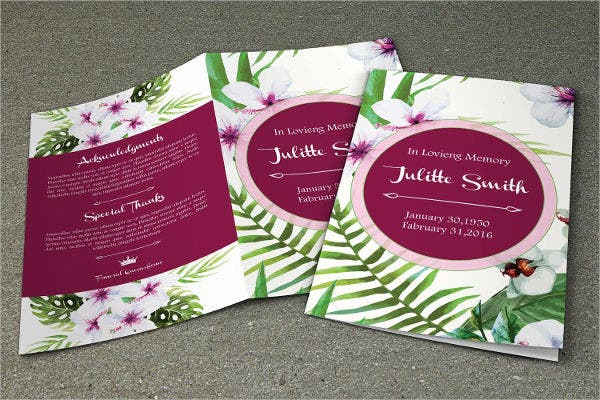 home funeral event brochure
