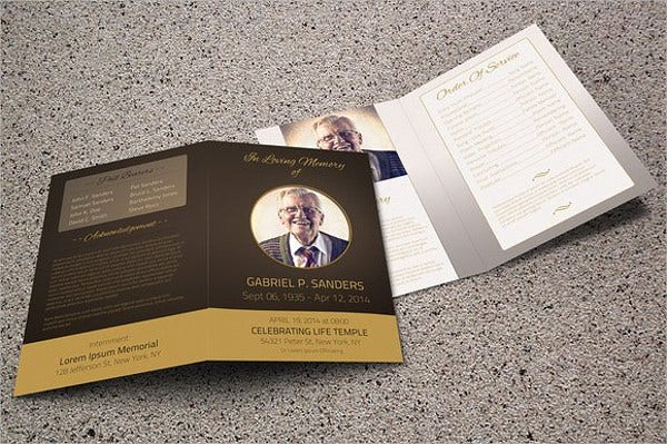 funeral service event brochure