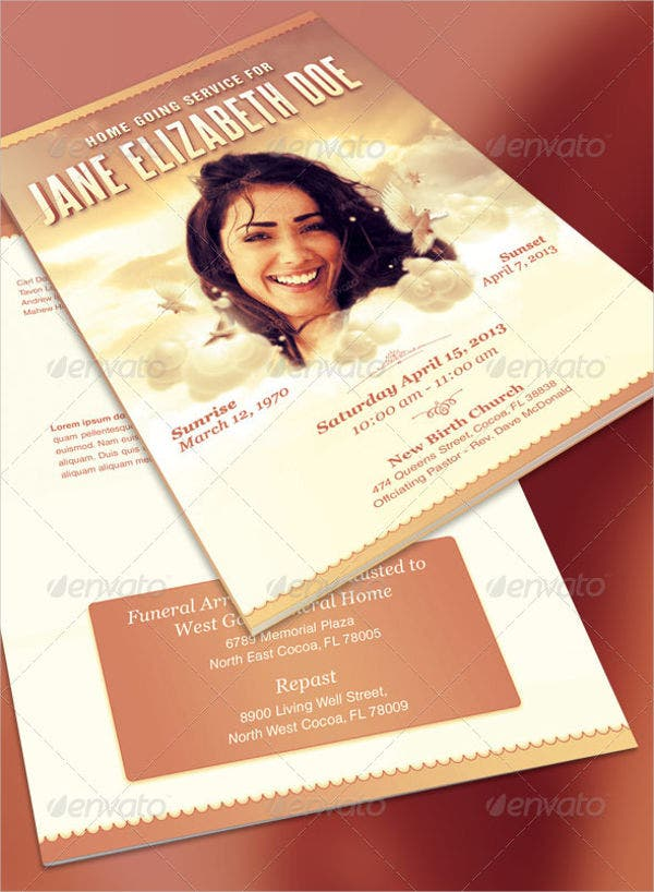 Funeral Catering Event Brochure