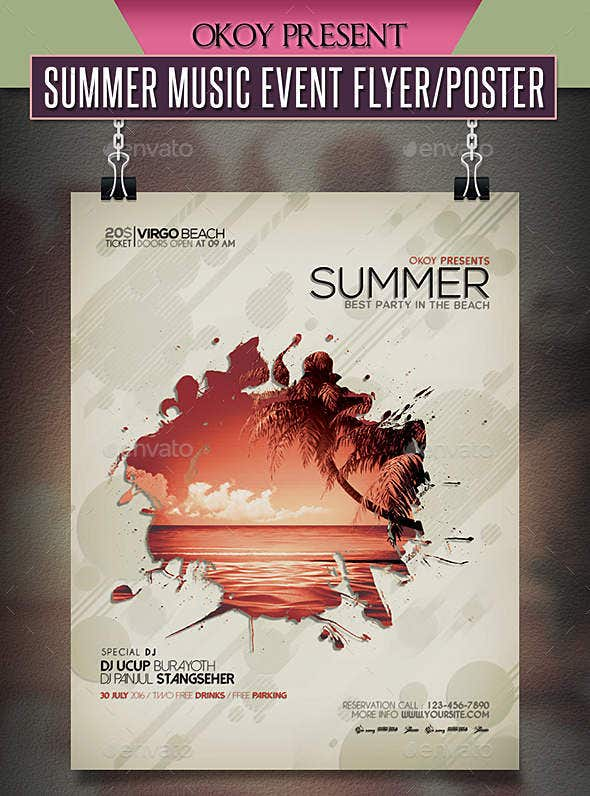 14  Summer Event Flyers