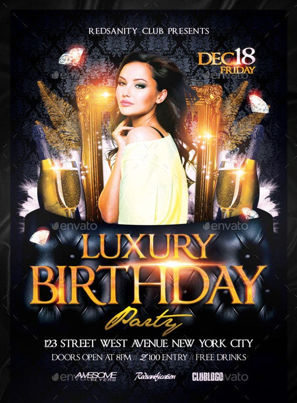 luxury-birthday-party-flyer