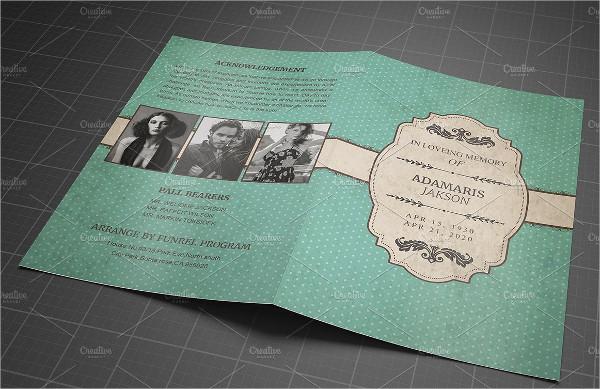 Vinatge Funeral Event Brochure