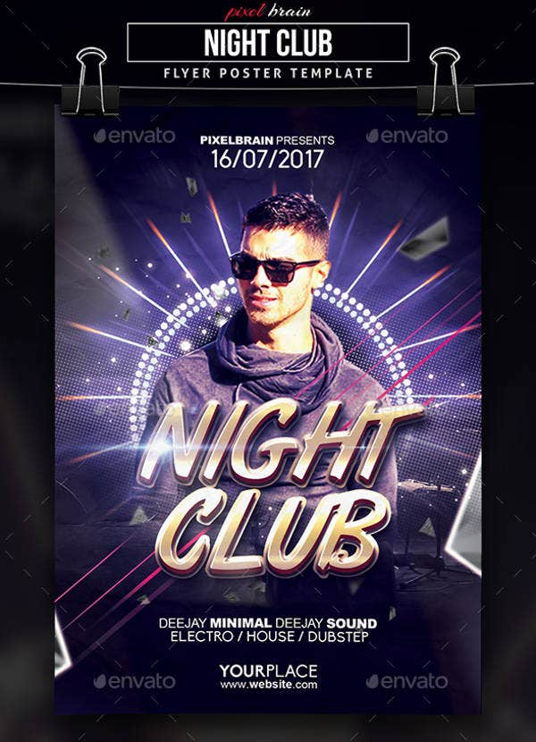 9 club party flyers free psd eps vector ai format for Free club flyer templates