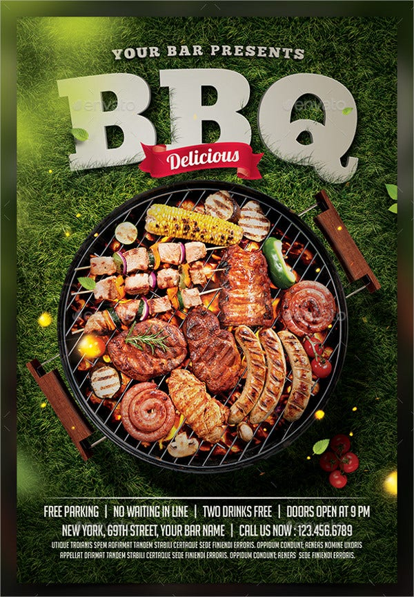 Barbecue BBQ Party Flyer