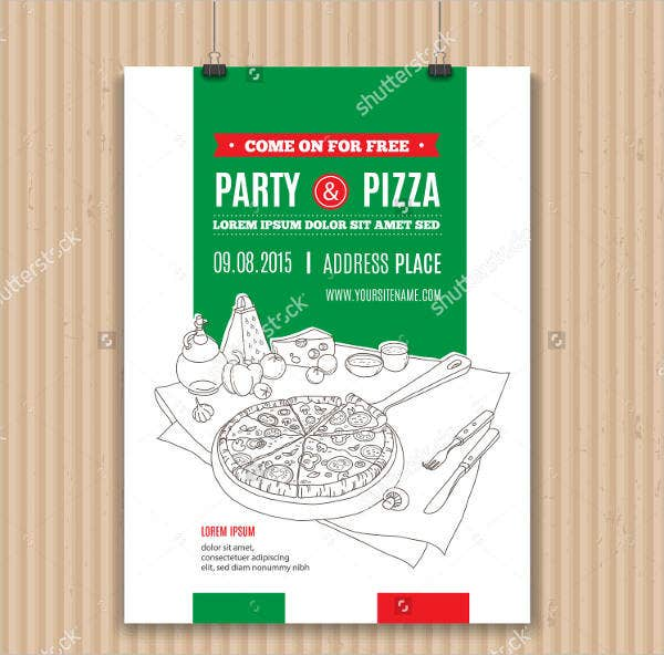 hot-pizza-party-flyer