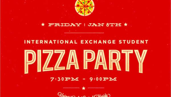 16 Pizza Party Flyer Template Psd Word Publisher