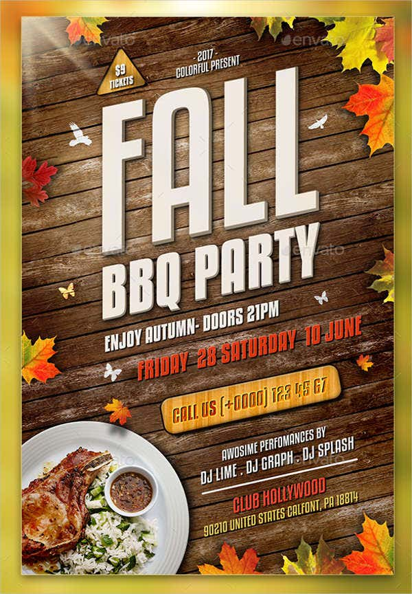 10 bbq party flyers designs templates free premium templates