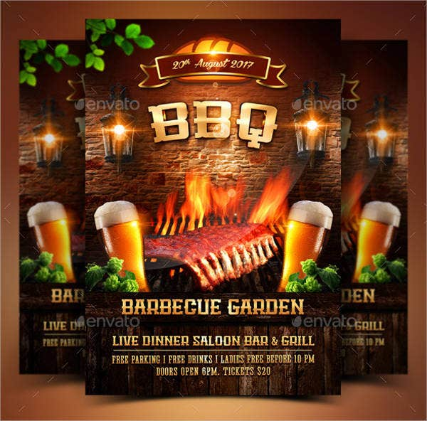 Barbecue Party Flyer PSD