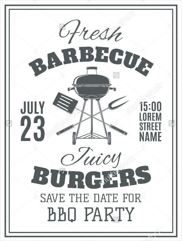 vintage bbq party flyer
