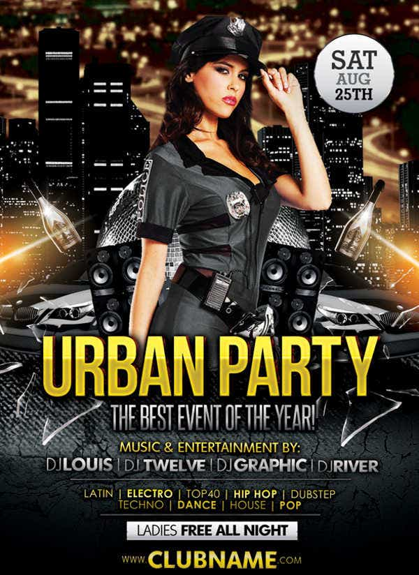 Urban Club Party Flyer
