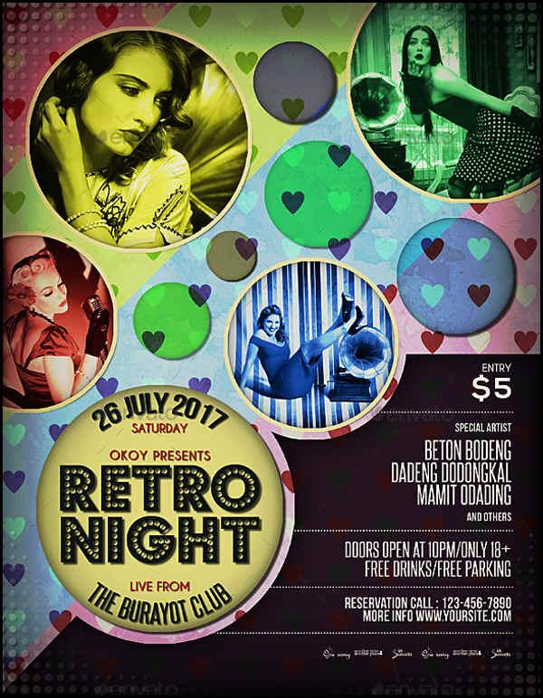 Retro Music Event Flyer