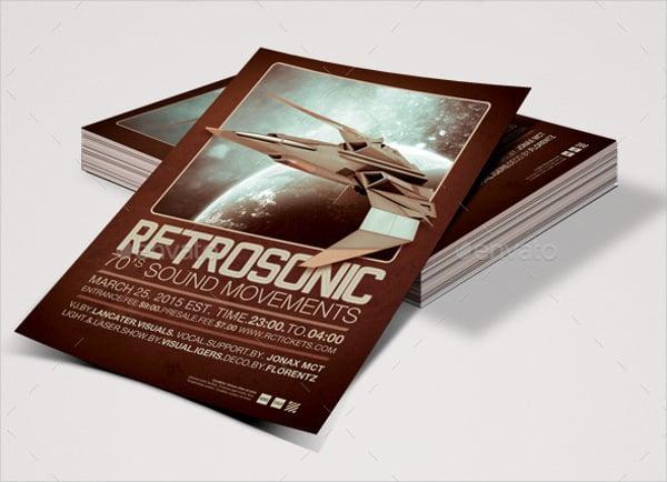 Retro Fusion Event Flyer