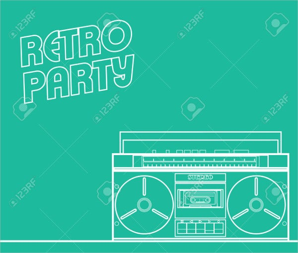 Retro Concert Party Event Flyer