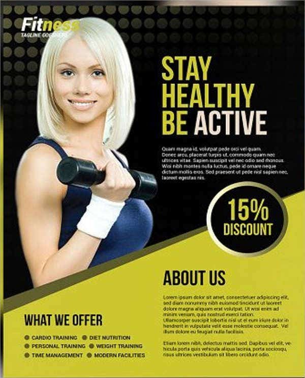 fitness center promotion flyer1