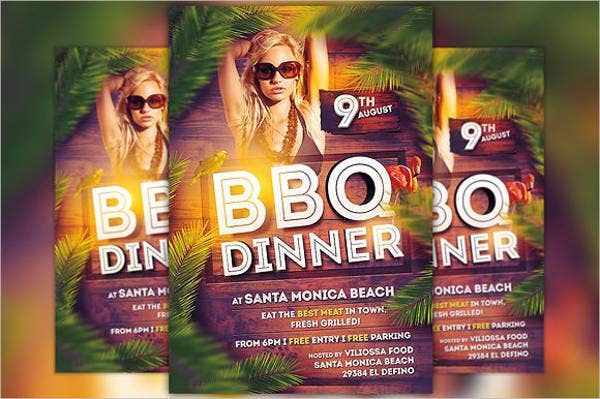 bbq dinner party flyer