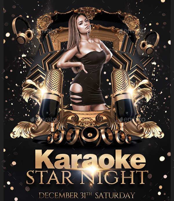 Karaoke Stars Party Flyer