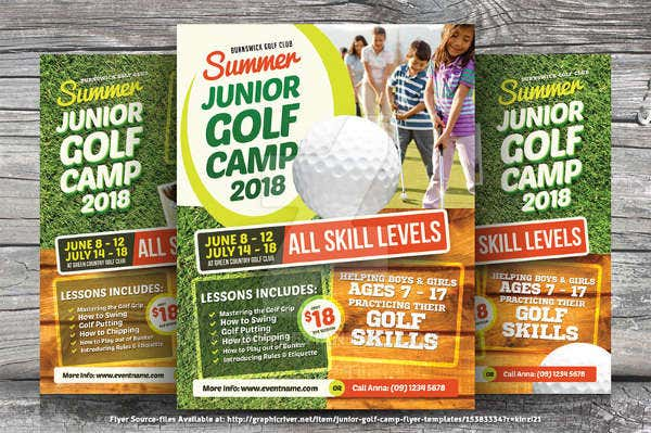 Junior Golf Event Flyer