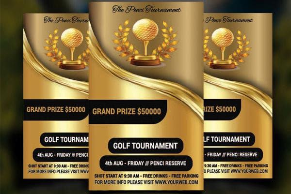 golf event promotion flyer