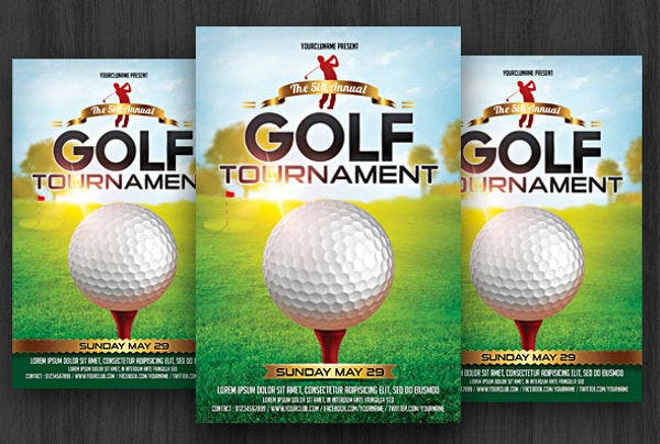 Golf Event Party Flyer