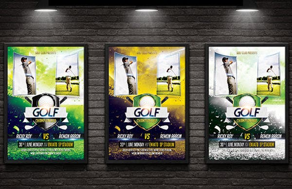 golf event flyer and poster