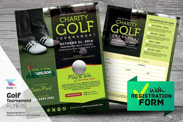 free psd golf event flyer