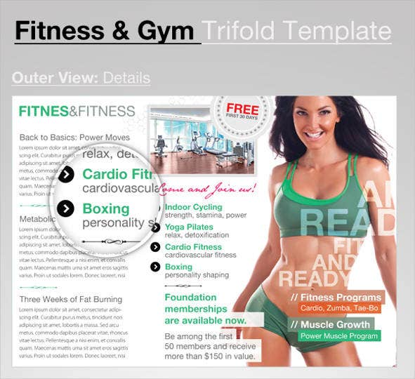 trifold-gym-fitness-flyer
