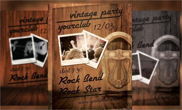 vintage dance party flyer