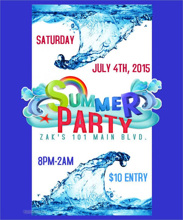 Summer Event Party Flyer