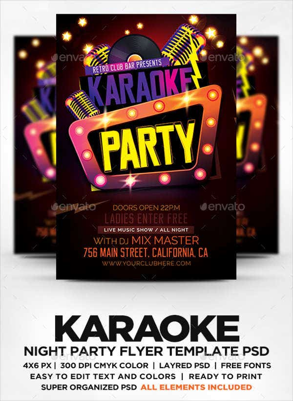 Karaoke Party Flyers  Free Psd Eps Vector Format Download