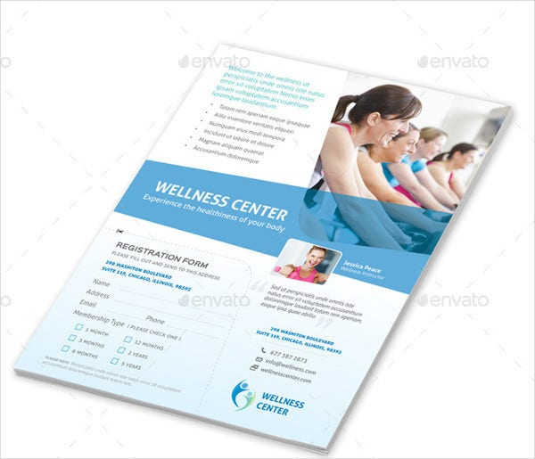 fitness and wellness center flyer